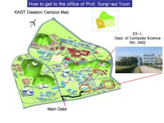 KAIST Daejeon Campus Map
