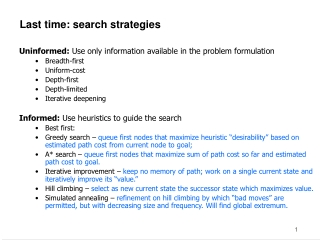 Introduction To  Minimum Cost Problems  Uniform Cost Search