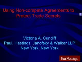 Using Non-compete Agreements to Protect Trade Secrets