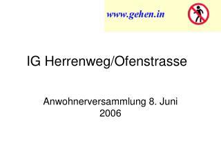 IG Herrenweg/Ofenstrasse