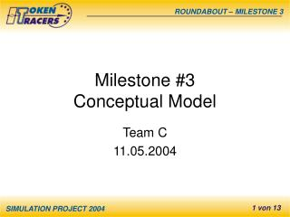 Milestone #3 Conceptual Model
