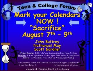 Teen & College Forum