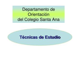 Departamento de Orientación  del Colegio Santa Ana