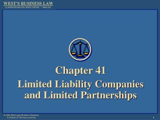 Chapter 41 Limited Liability Companies  and Limited Partnerships