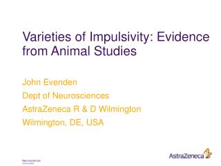 Varieties of Impulsivity: Evidence from Animal Studies