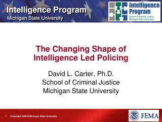 The Changing Shape of Intelligence Led Policing