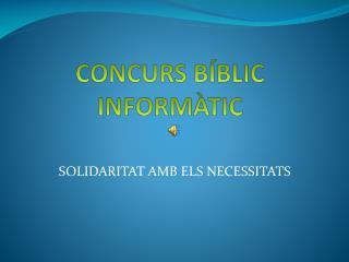 CONCURS BÍBLIC INFORMÀTIC