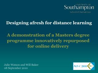 Designing afresh for distance learning