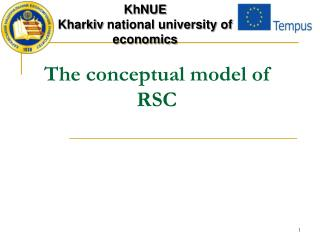 The conceptual model of RSC