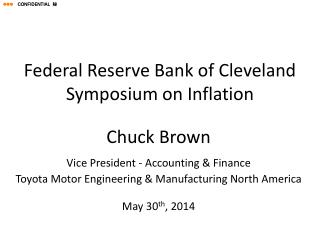Federal Reserve Bank of Cleveland Symposium on Inflation