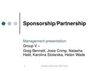 Sponsorship/Partnership