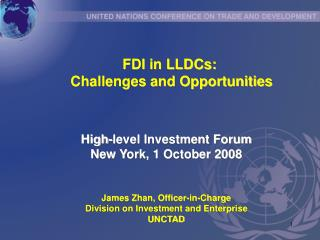 FDI in LLDCs:  Challenges and Opportunities