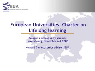 European Universities' Charter on Lifelong learning
