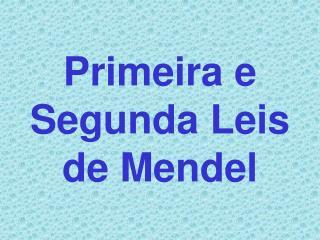Primeira e Segunda Leis de Mendel