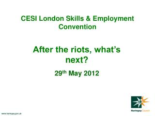 CESI London Skills & Employment Convention