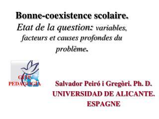 Salvador Peiró i Gregòri. Ph. D. UNIVERSIDAD DE ALICANTE. ESPAGNE