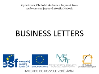 BUSINESS LETTERS  MADE SIMPLE