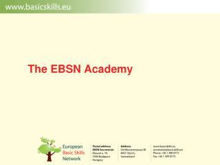 The EBSN  Academy
