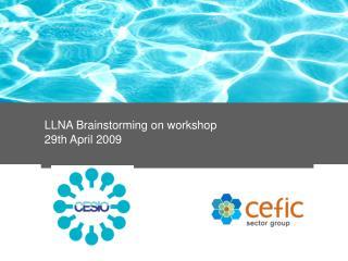 LLNA Brainstorming on workshop 29th April 2009