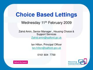 Choice Based Lettings