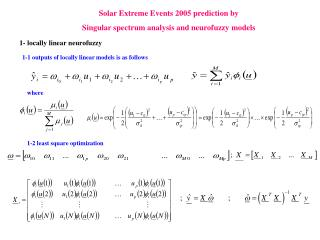 Solar Extreme Events 2005 prediction by  Singular spectrum analysis and neurofuzzy models