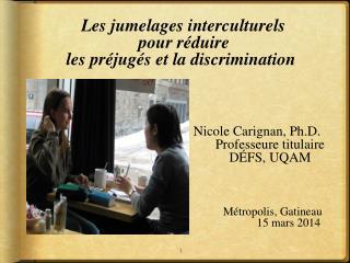 Les jumelages interculturels pour réduire  les préjugés et la discrimination