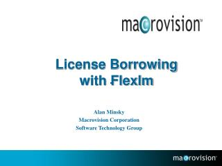 License Borrowing with Flexlm