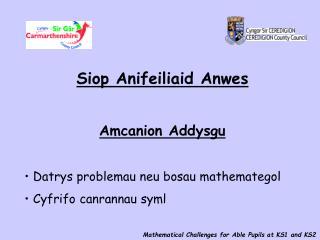 Siop Anifeiliaid Anwes Amcanion Addysgu  Datrys problemau neu bosau mathemategol