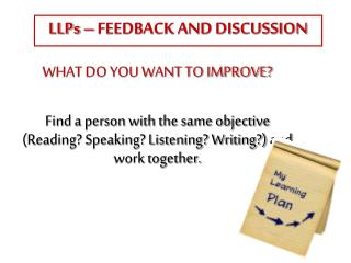 LLPs – FEEDBACK AND DISCUSSION