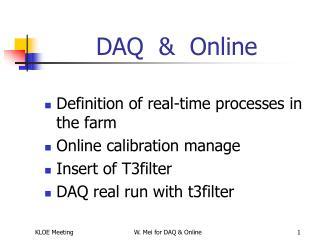 DAQ  &  Online