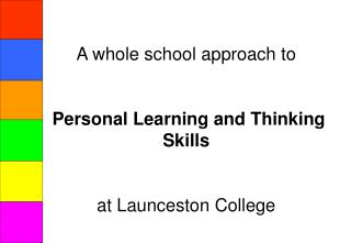 A whole school approach to Personal Learning and Thinking Skills at Launceston College