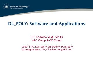 DL_POLY: Software and Applications