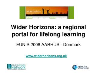 Wider Horizons: a regional portal for lifelong learning