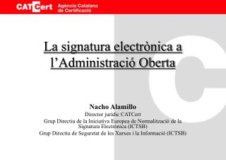 La signatura electrònica a l'Administració Oberta