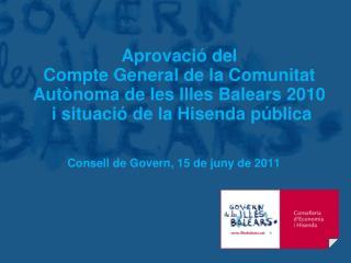 Consell  de Govern, 15 de  juny  de 2011