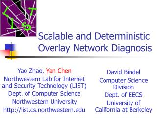 Scalable and Deterministic Overlay Network Diagnosis