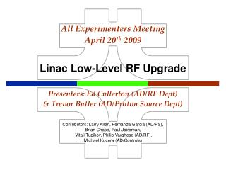 Linac Low-Level RF Upgrade
