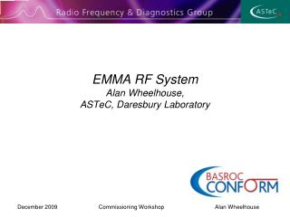 EMMA RF System  Alan Wheelhouse, ASTeC, Daresbury Laboratory