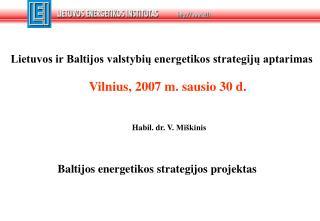 Lietuvos ir Baltijos valstybių energetikos strategijų aptarimas