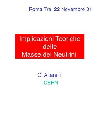 Implicazioni Teoriche delle Masse dei Neutrini