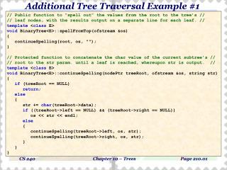 Additional Tree Traversal Example #1