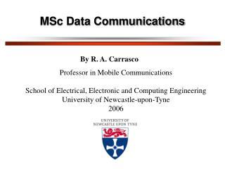MSc Data Communications