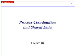 Process Coordination  and Shared Data