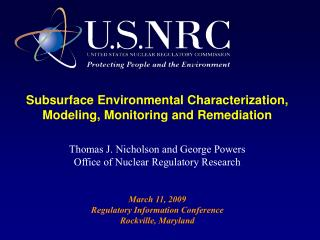 Subsurface Environmental Characterization, Modeling, Monitoring and Remediation