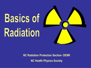Basics of Radiation