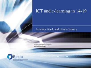 ICT and e-learning in 14-19