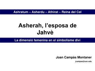 Joan Campàs Montaner jcampas@uoc