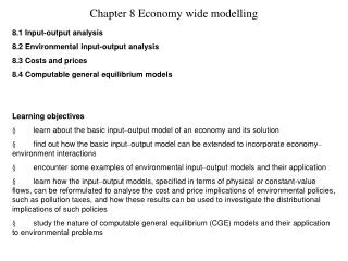 Chapter 8 Economy wide modelling
