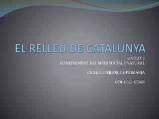 EL RELLEU DE CATALUNYA