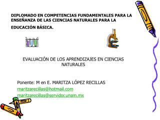 EVALUACI�N DE LOS APRENDIZAJES EN CIENCIAS NATURALES